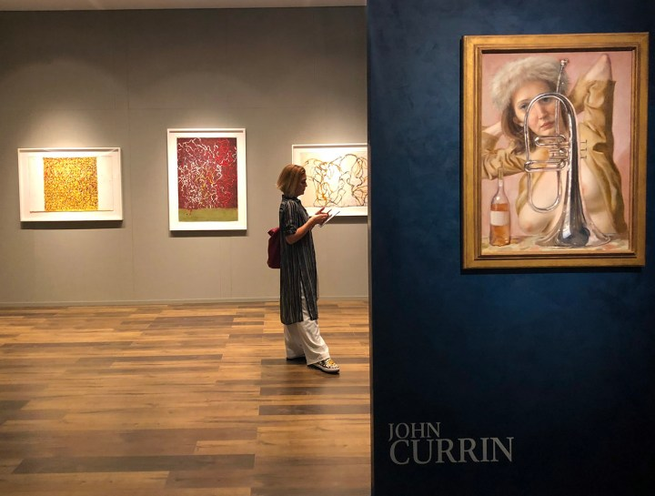 Gagosian's booth of works by John Currin at TEFAF New York