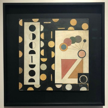 A collage by Loló Soldevilla in the Sean Kelly booth at TEFAF New York