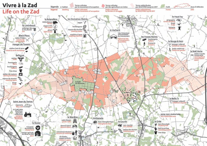 A map of the ZAD (courtesy ZAD Forever)
