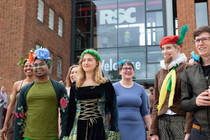 Members of the Mischief Mob outside the main theater. (photo by Ron Fassbender)