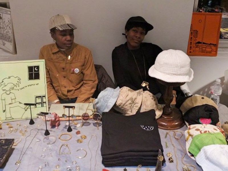 The L'Enchanteur table by Soull & Dynasty Ogun at the 2017 Brown Paper Zine & Small Press Fair (all images courtesy the Brown Paper Zine & Small Press Fair)