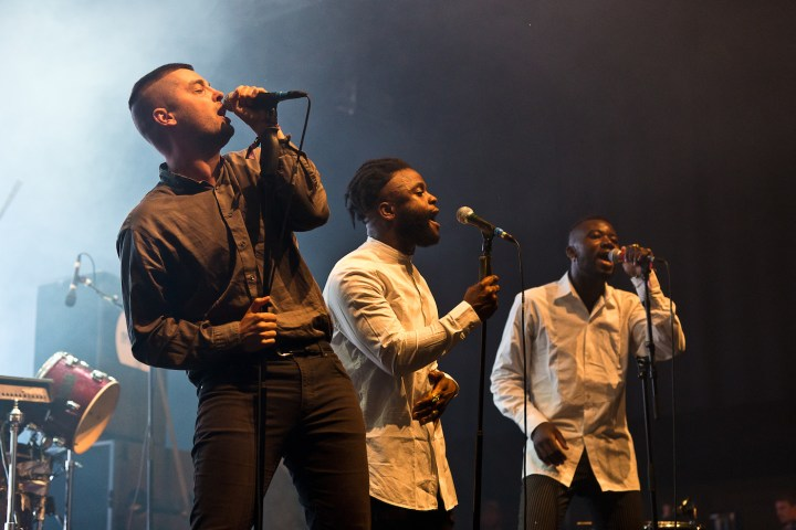 Young Fathers performing in 2015 (photo by S. Bollmann, via Wikimedia Commons)