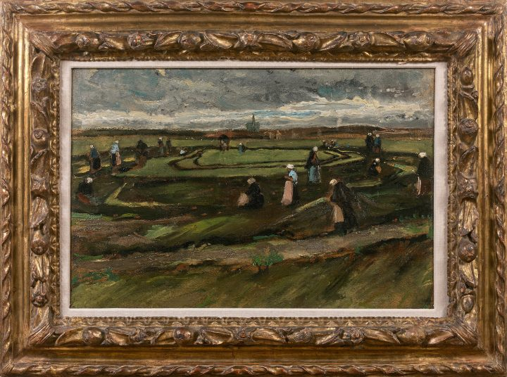 "Vincent van Gogh, ""Raccommodeuses de filets dans les dunes"" (""Women Mending Nets in the Dunes,"" 1882) recently sold at Artcurial for €7,065,000 (~$8.3 million) (courtesy Artcurial)"