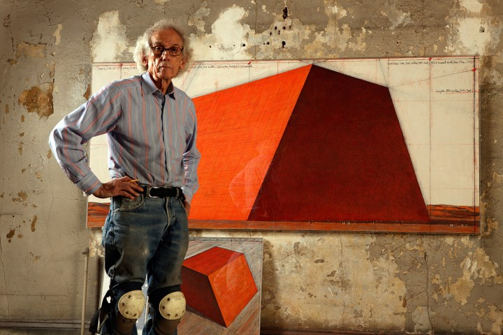 Christo (photo by Wolfgang Volz) (image courtesy of Serpentine Galleries)