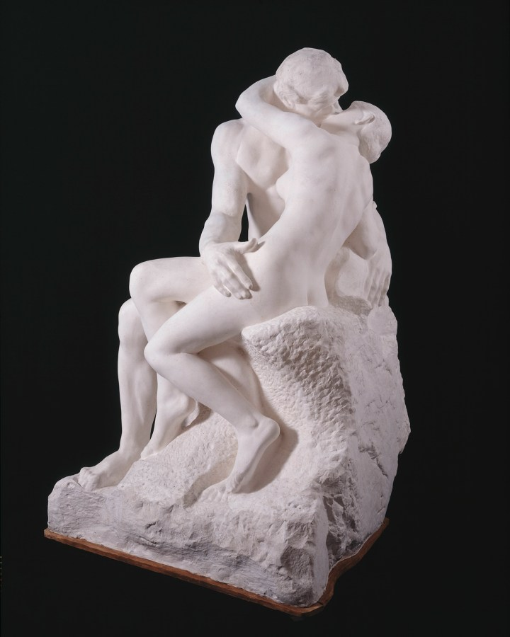 """Auguste Rodin (1840–1917), """"The Kiss,"""" large version, after 1898, plaster, cast from first marble version, of 1888–98 © Musée Rodin"""