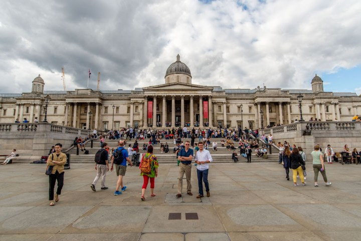The National Gallery on a busy day in London (image by Josh Stead)