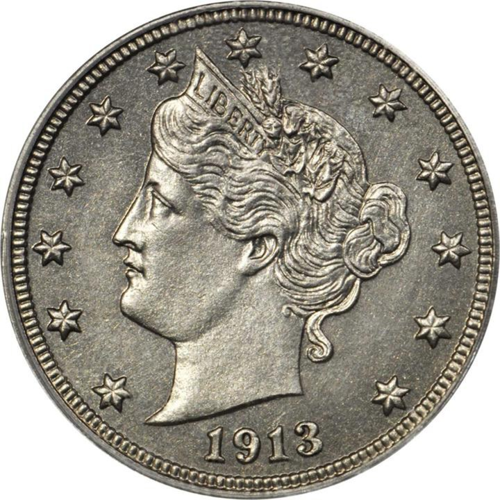 The Eliasberg 1913 Liberty Head nickel (image courtesy of Stack's Bowers Galleries)