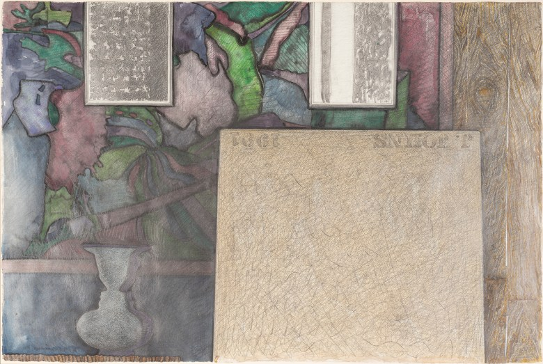 "Jasper Johns, ""Untitled""(1991), watercolor, pencil, and graphite on paper, 27 1/2 x 41 in. Artwork © Jasper Johns / Licensed by VAGA at Artists Rights Society (ARS), New York (photo by Kris Graves)"
