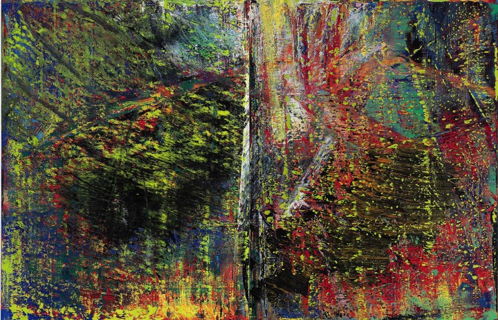 """Gerhard Richter, """"Abstraktes Bild"""" (1987), oil on canvas, 2 panels, each: 102 3/8 x 78 7/8 inches, overall: 102 3/8 x 157 3/4 inches (images courtesy Sotheby's)"""