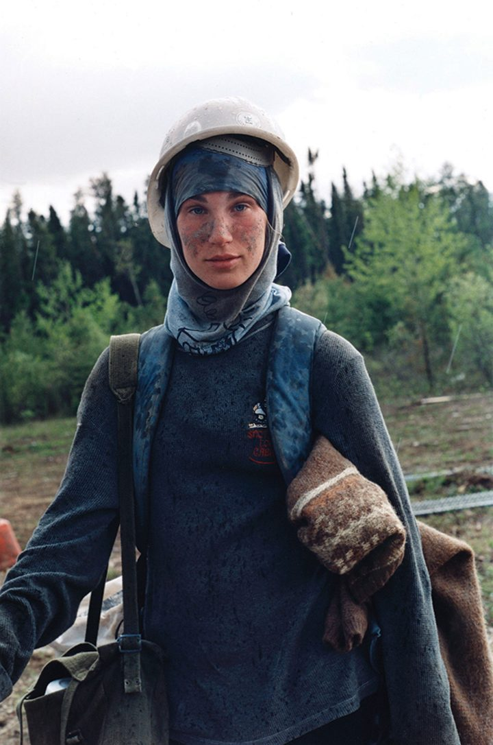 """Sarah Anne Johnson, """"Nadine (from Tree Planting)"""" (2003), chromogenic print (Collection of the Vancouver Art Gallery, gift of the Artist, image courtesy Julie Saul Gallery, New York, and Stephen Bulger Gallery, Toronto)"""