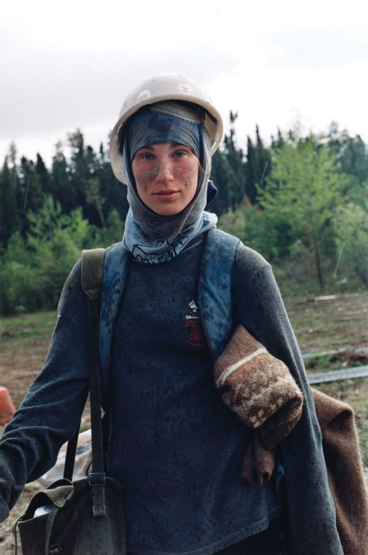 "Sarah Anne Johnson, ""Nadine (from Tree Planting)"" (2003), chromogenic print (Collection of the Vancouver Art Gallery, gift of the Artist, image courtesy Julie Saul Gallery, New York, and Stephen Bulger Gallery, Toronto)"