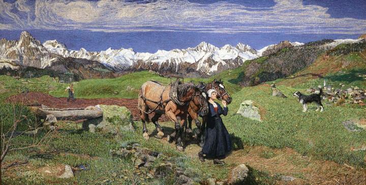 "Giovanni Segantini, ""Spring in the Alps"" (1897) (image courtesy the J. Paul Getty Museum)"