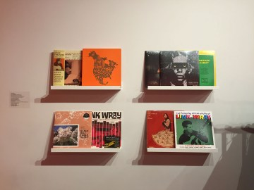 Zines on display for R.I.S.E.