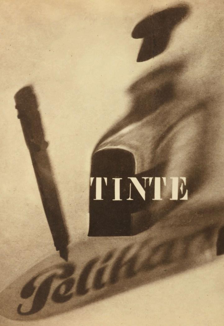 "El Lissitzky, ""Pelikan Tinte"" (1924), 8 1/4 x 5 3/4 inches (image courtesy Christie's)"