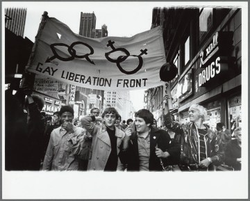 Gay Liberation Front marches on Times Square, New York (1970) (photo by Diana Davies)