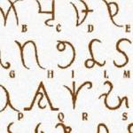 Lingue antiche e fantastiche: L'alfabeto Isiaco
