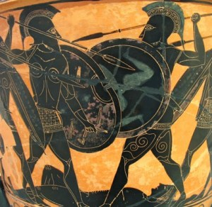 hoplites-fighting
