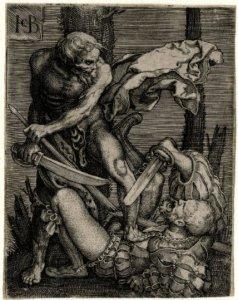 Death-killing-a-soldier-Jacob-Binck-1520-1561