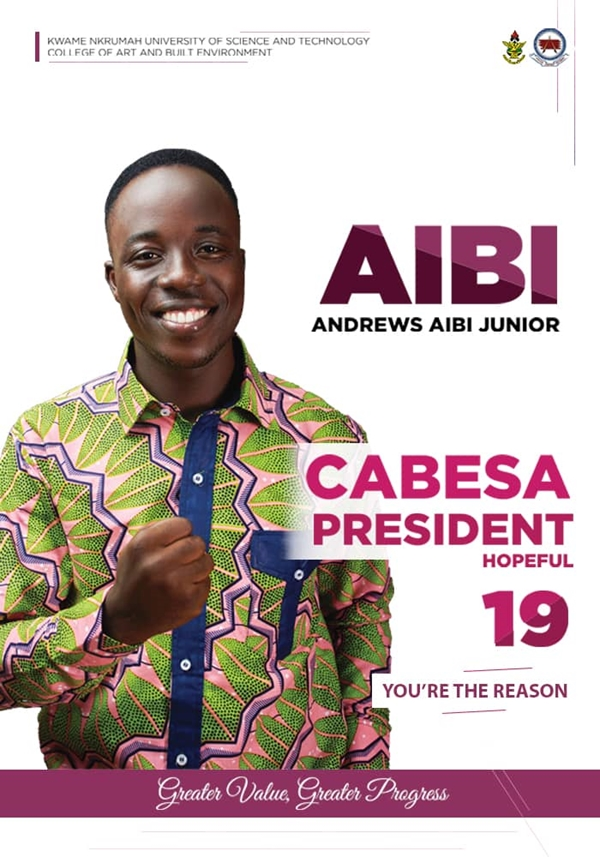 KNUST: Master AIBI officially declares his intentions to contest for CABESA President