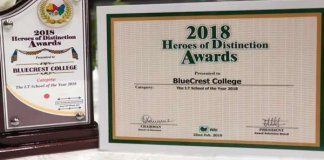 BlueCrest College wins IT College of the year award