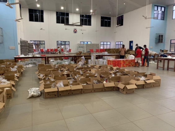 5,000 boxes of packaged food to be delivered to homes from Monday