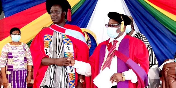 Dr. Awinkene Atintono sworn in as 7th principal of Accra College of Education