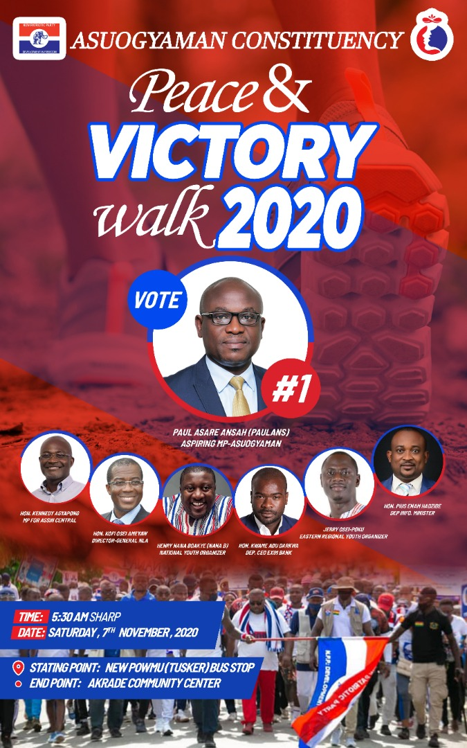 Asuogyaman's Paul Ansah to lead the NPP in a Victory Walk on November 7