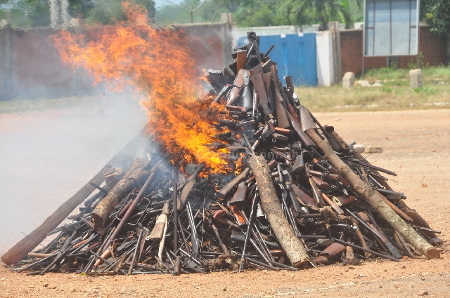 Small Arms Commission destroys over 1,000 weapons [Photos]
