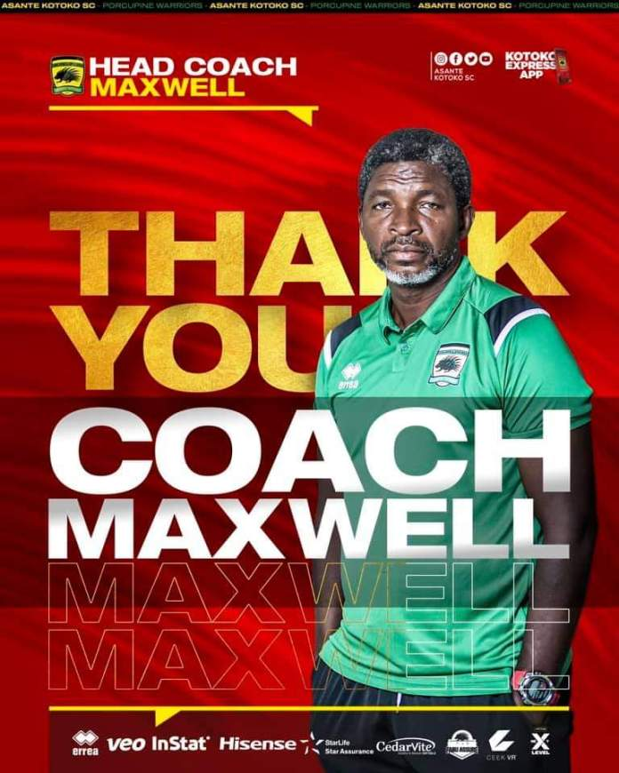 Asante Kotoko sack Maxwell Konadu