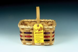 We bought this attractive small hickory basket for less than $20. (click to enlarge)
