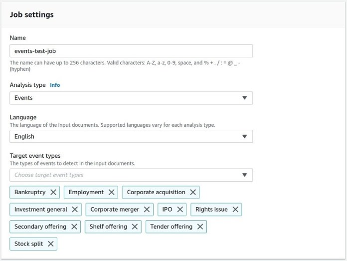 announcing the launch of amazon comprehend events 1 hyperedge embed image