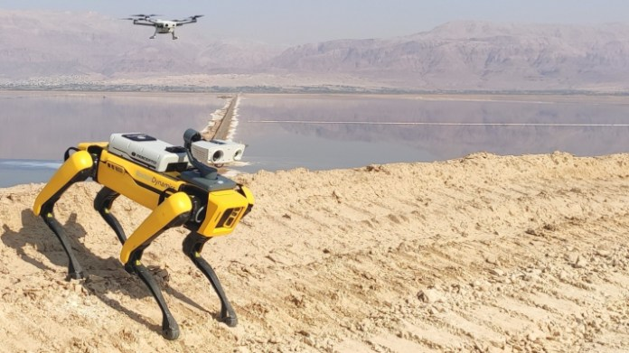 industrial drone maker percepto raises 45m and integrates with boston dynamics spot hyperedge embed image