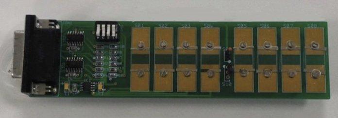 This e-nose matrix board contains eight sensors