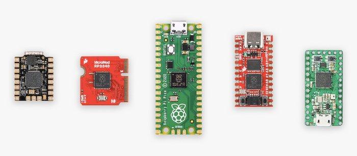 Raspberry Pi RP2040 on the Pico board