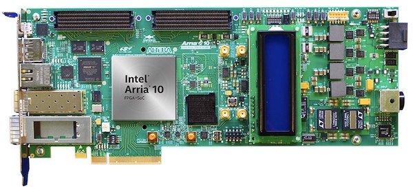 The Arria 10 FPGA development kit