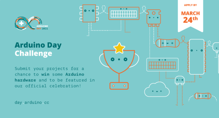 arduino day challenge submit your project by march 24th for a chance to win some arduino hardware hyperedge embed image