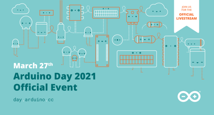 join us on the official arduino day live stream on march 27th hyperedge embed image