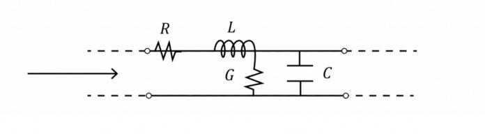 Circuit diagram of a PCB transmission line.