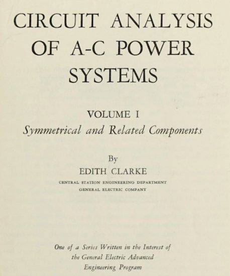 Title page of the textbook Clarke authored