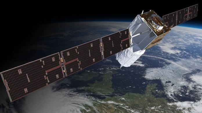 """Aeolus, the world's first wind """"profiler"""" satellite, launched in 2018."""