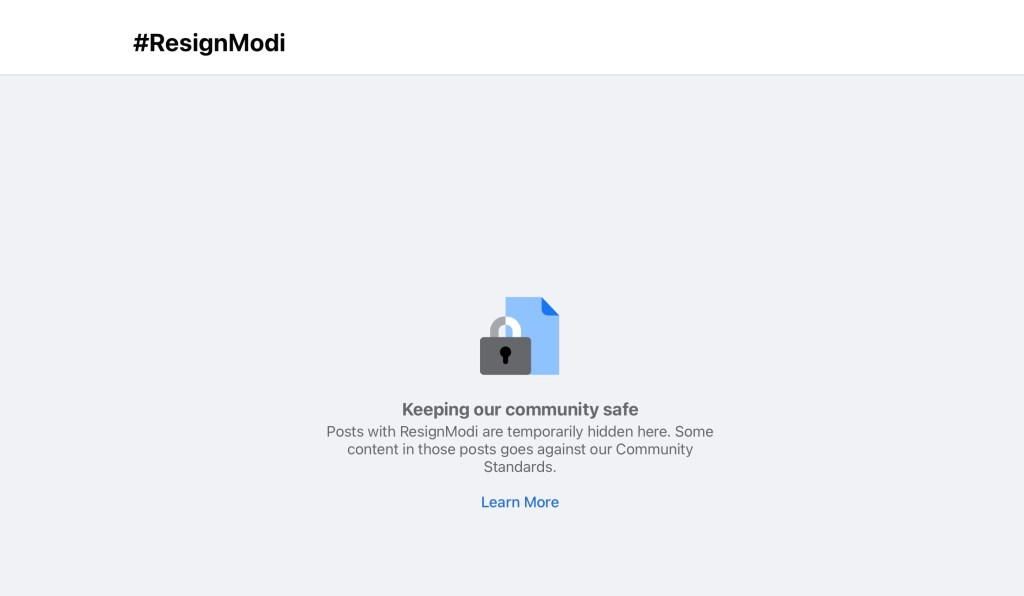 facebook hides posts calling for pm modis resignation in india hyperedge embed