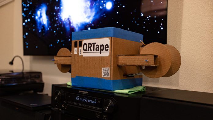 qrtape is a reel to reel qr code music player hyperedge embed image