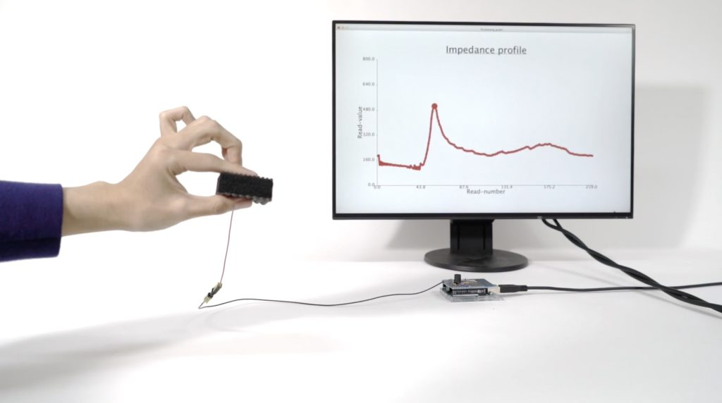 foamin is a novel sensing method for detecting deformable gestures with conductive foam hyperedge embed