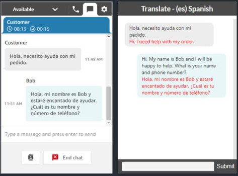 implement live customer service chat with two way translation using amazon connect and amazon translate 4 hyperedge embed image