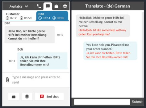 implement live customer service chat with two way translation using amazon connect and amazon translate 6 hyperedge embed image