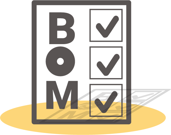 Bill of materials (BOM) required for a PCB
