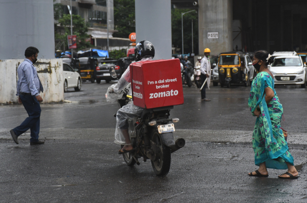food delivery firm zomato surges 65 in key india debut hyperedge embed