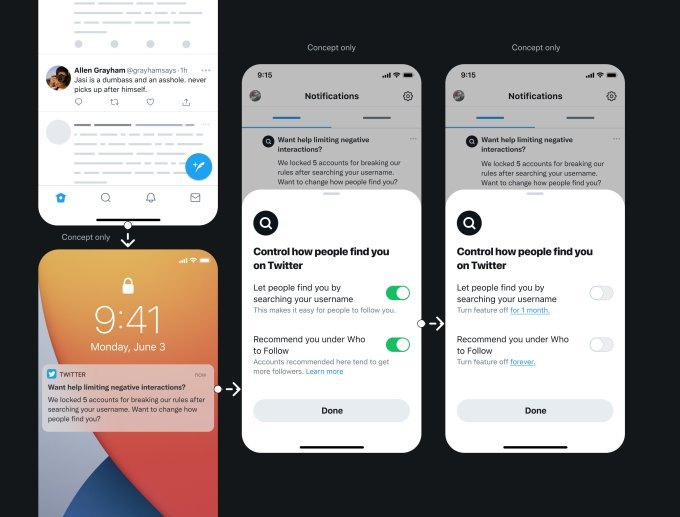 twitter shares its ideas around new privacy features including a way to hide your account from searches hyperedge embed image