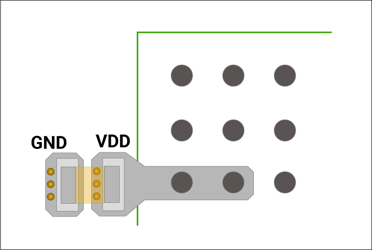 Placing vias adjacent to the capacitor mounting pad.