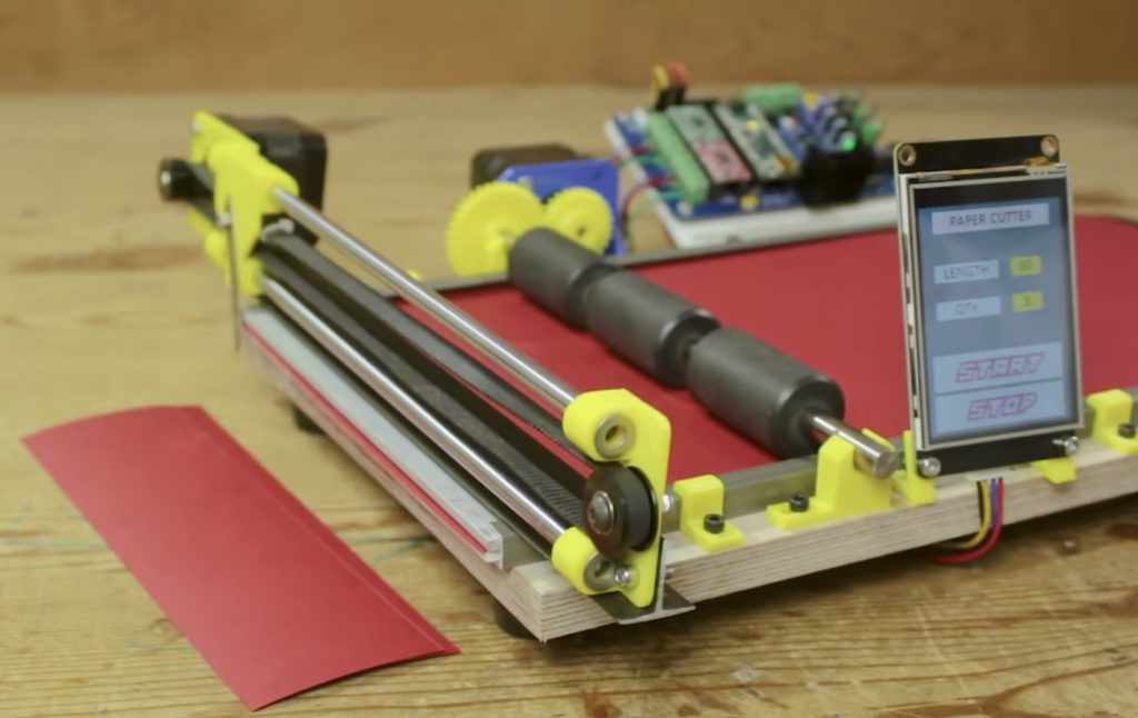 this arduino based machine is an easy and efficient way to cut strips of paper hyperedge embed